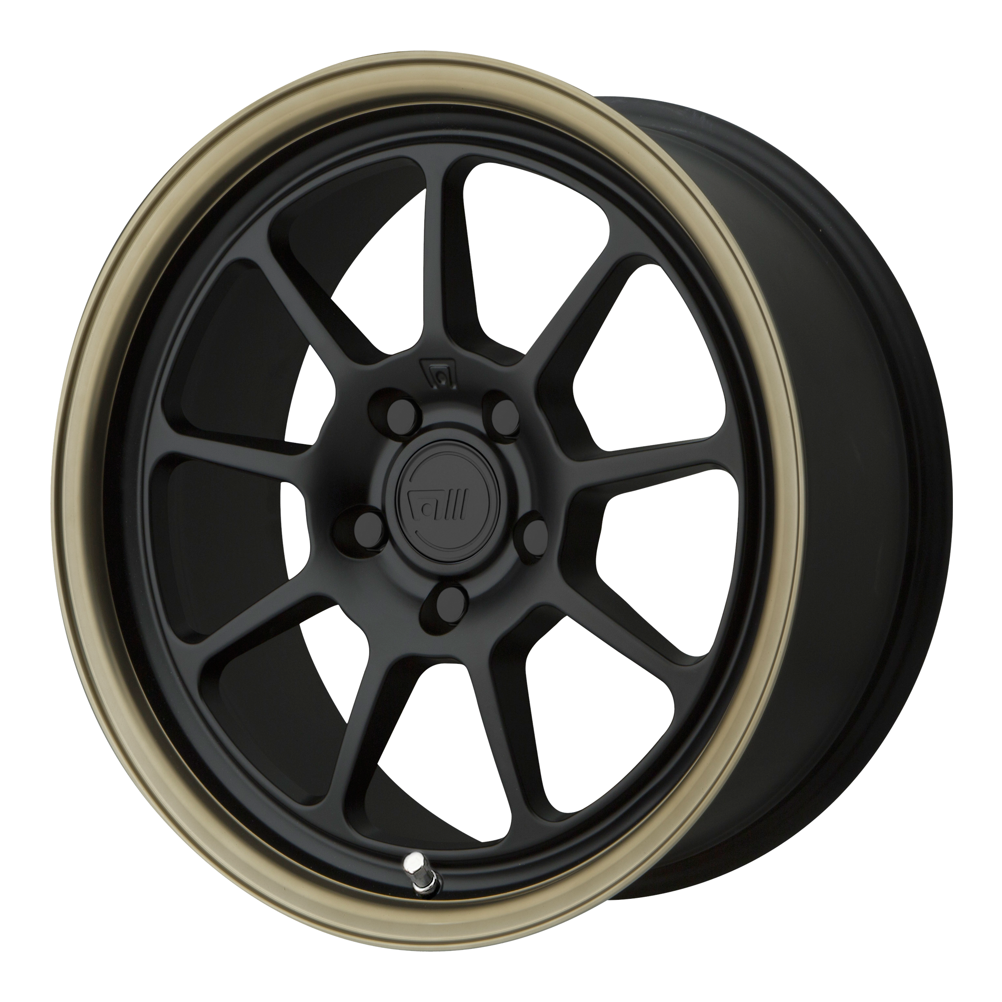 Motegi Racing Wheels MR135 Matte Black CENTER w/ Bronze Lip