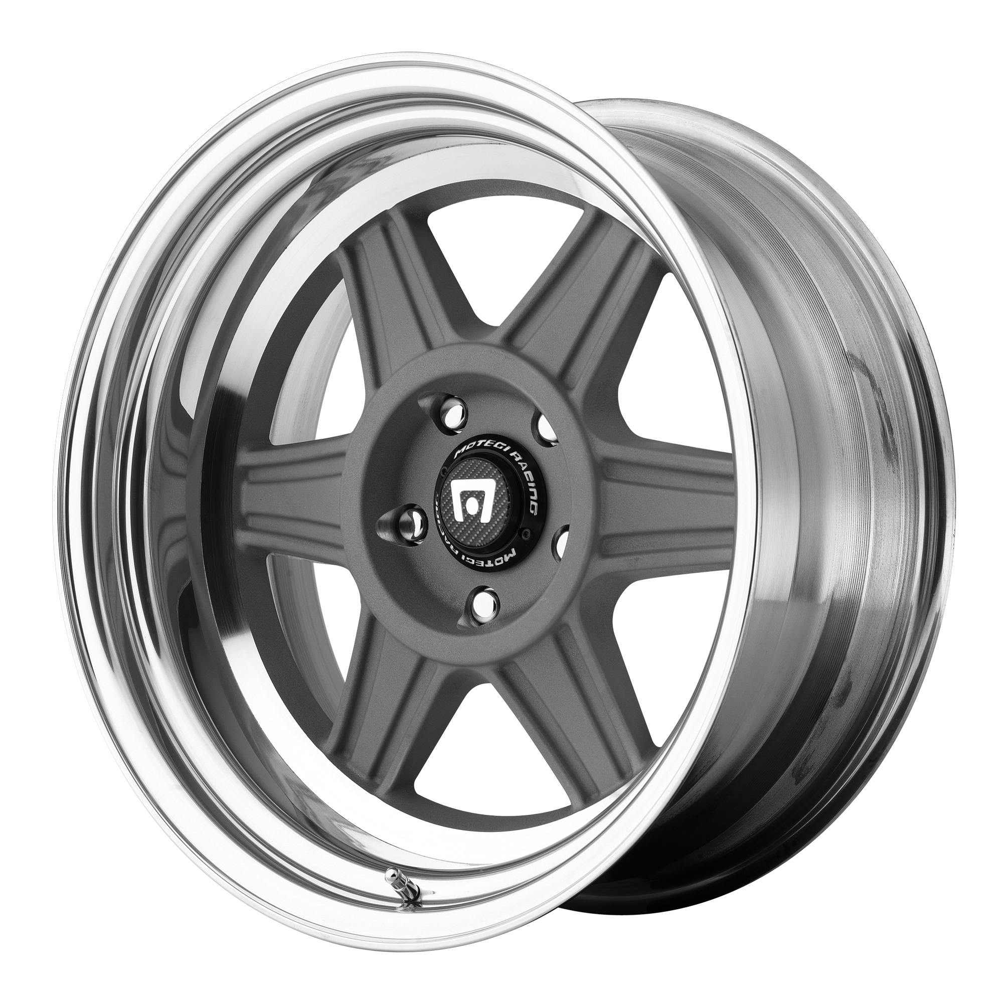 Motegi Racing Wheels MR224 MAG Gray w/ Polished Barrel