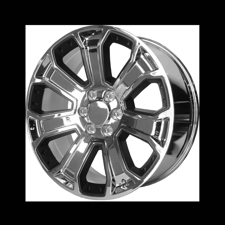 OE Creations Replica Wheels OE Creations PR113 Chrome w/ Matte Black Accents