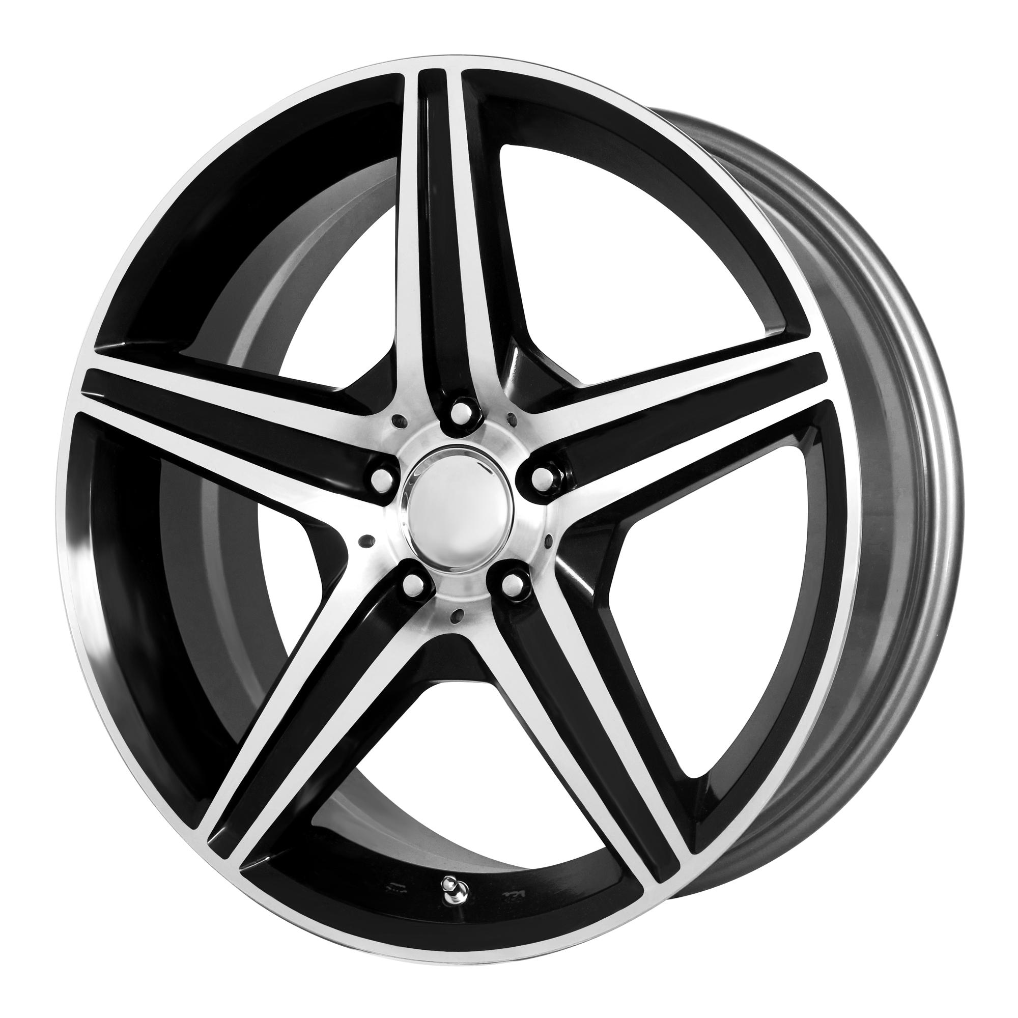 OE Creations Replica Wheels OE Creations 115C Gloss Black w/ Machined Spokes & Lip