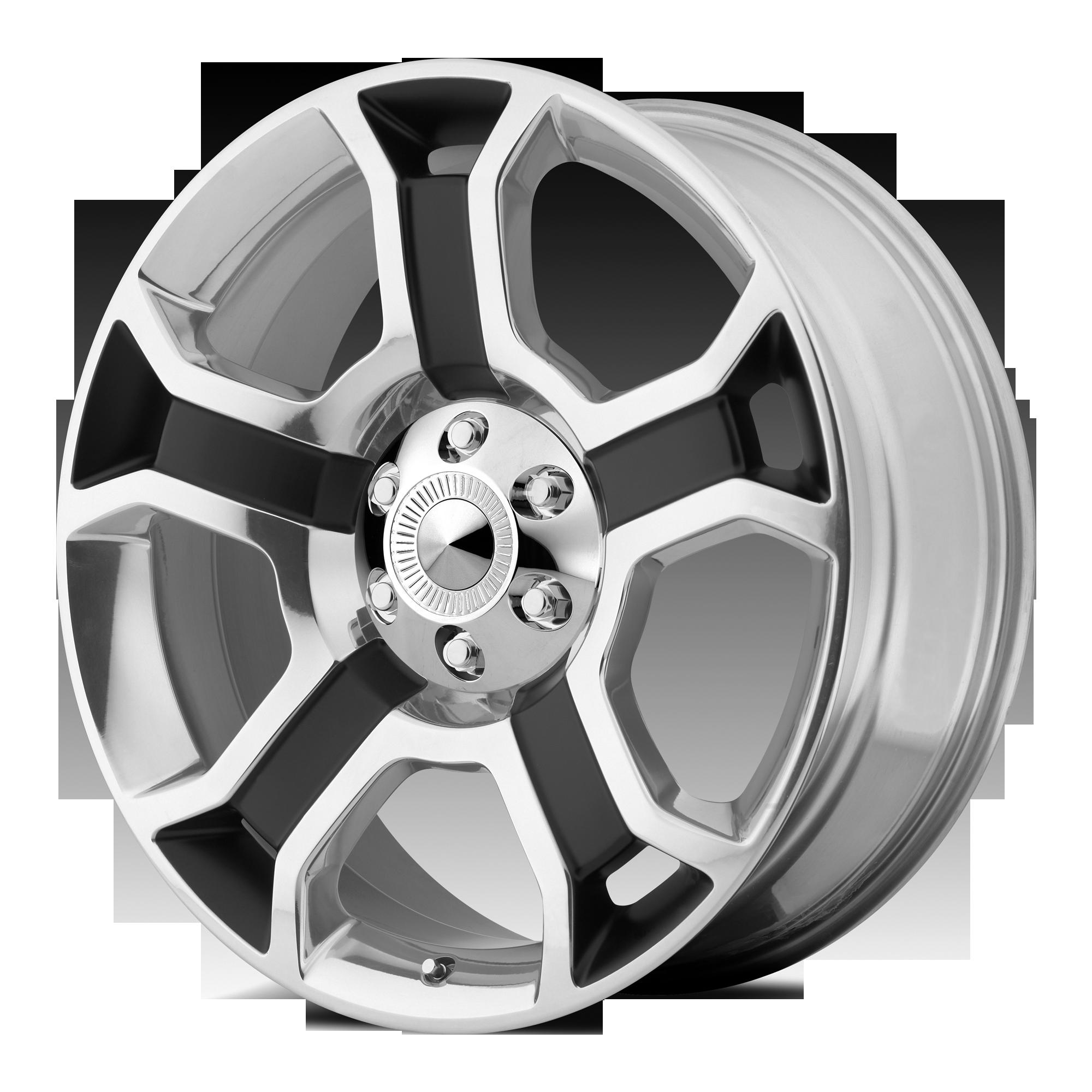 OE Creations Replica Wheels OE Creations 127C Gloss Black W. POL Spokes & Lip