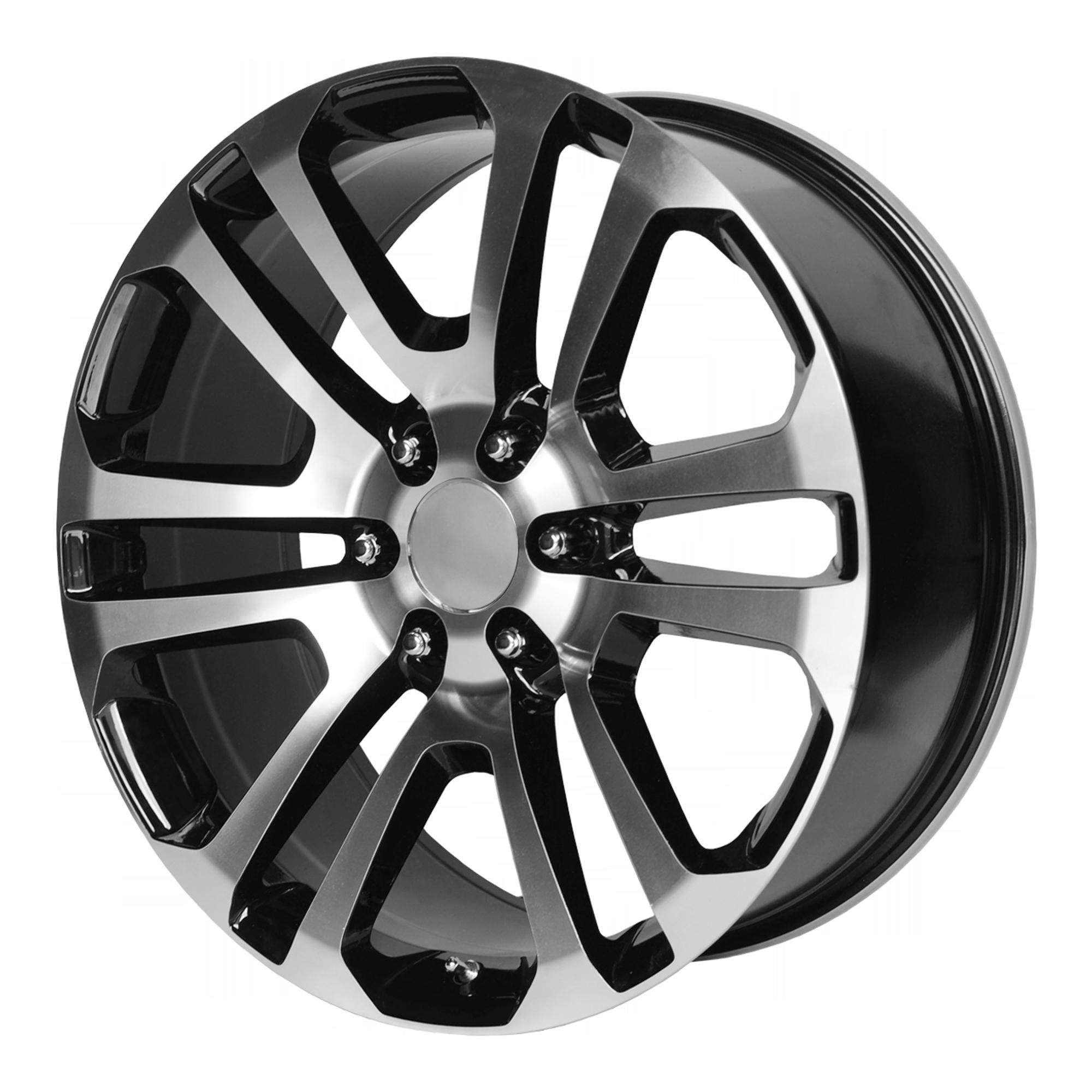 OE Creations Replica Wheels OE Creations PR158 Gloss Black w/ Machined Face