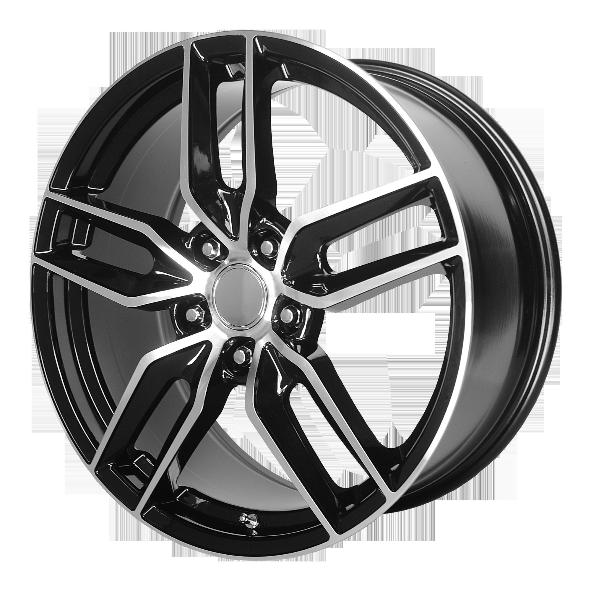 OE Creations Replica Wheels OE Creations PR160 Gloss Black w/ Machined Spokes