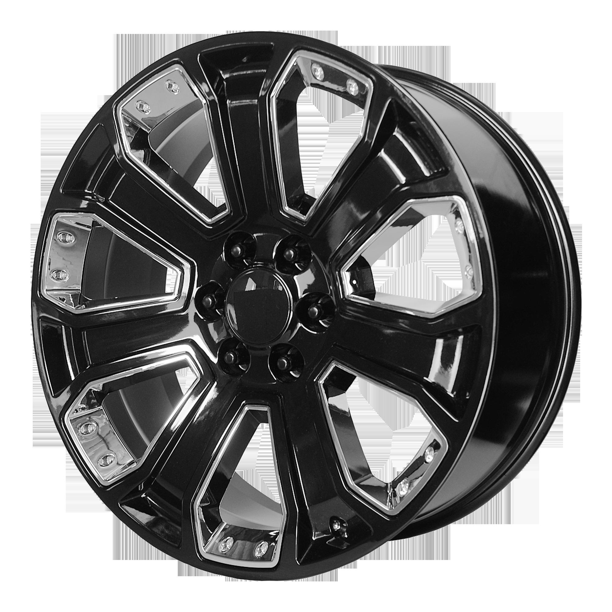 OE Creations Replica Wheels OE Creations PR162 Gloss Black w/ CHR Accents