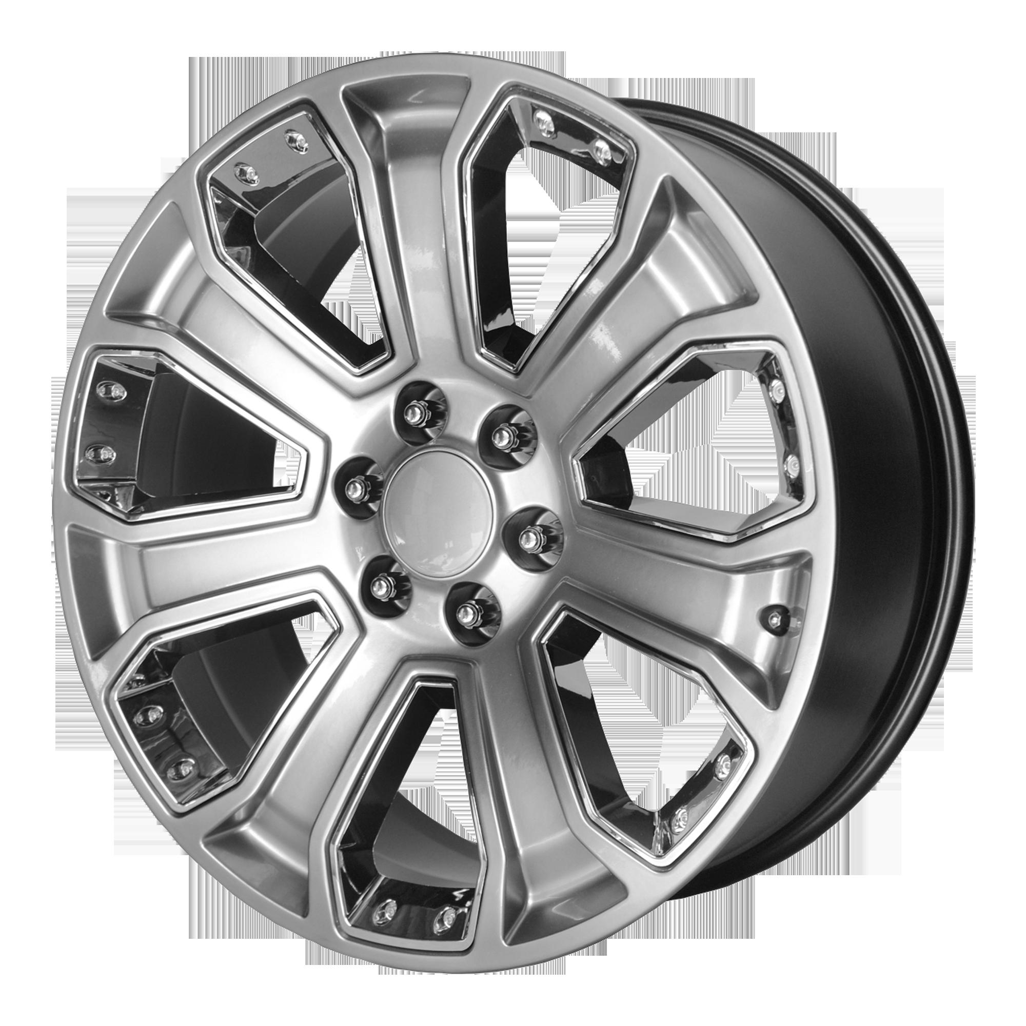 OE Creations Replica Wheels OE Creations PR162 Silver w/ Chrome Accents