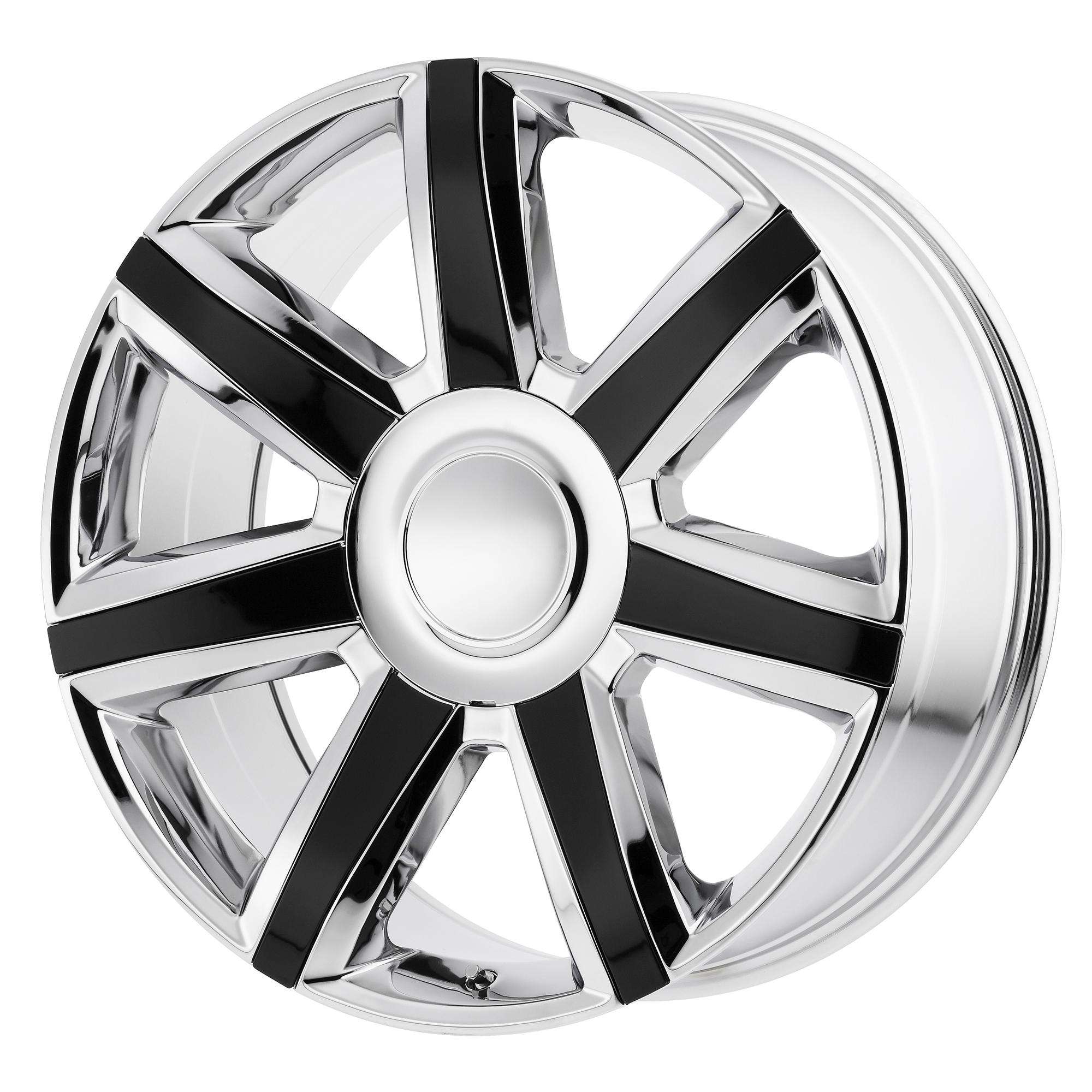 OE Creations Replica Wheels OE Creations PR164 Chrome w/ Gloss Black Accents