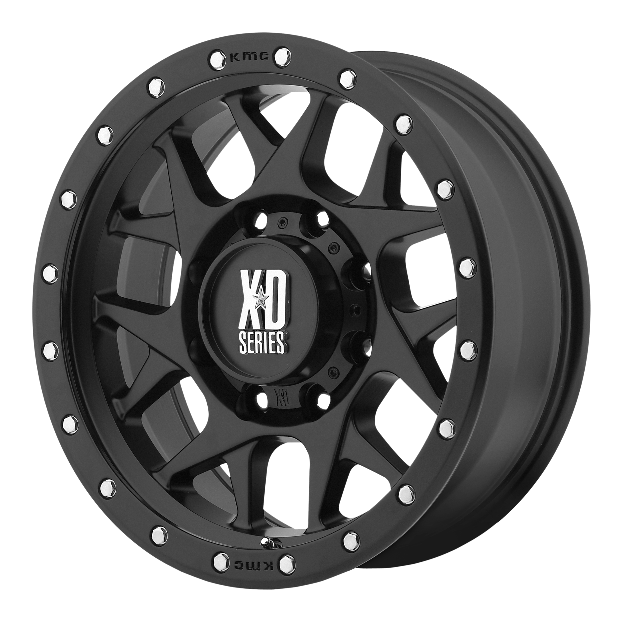 17x9 XD Series by KMC Wheels BULLY Satin Black