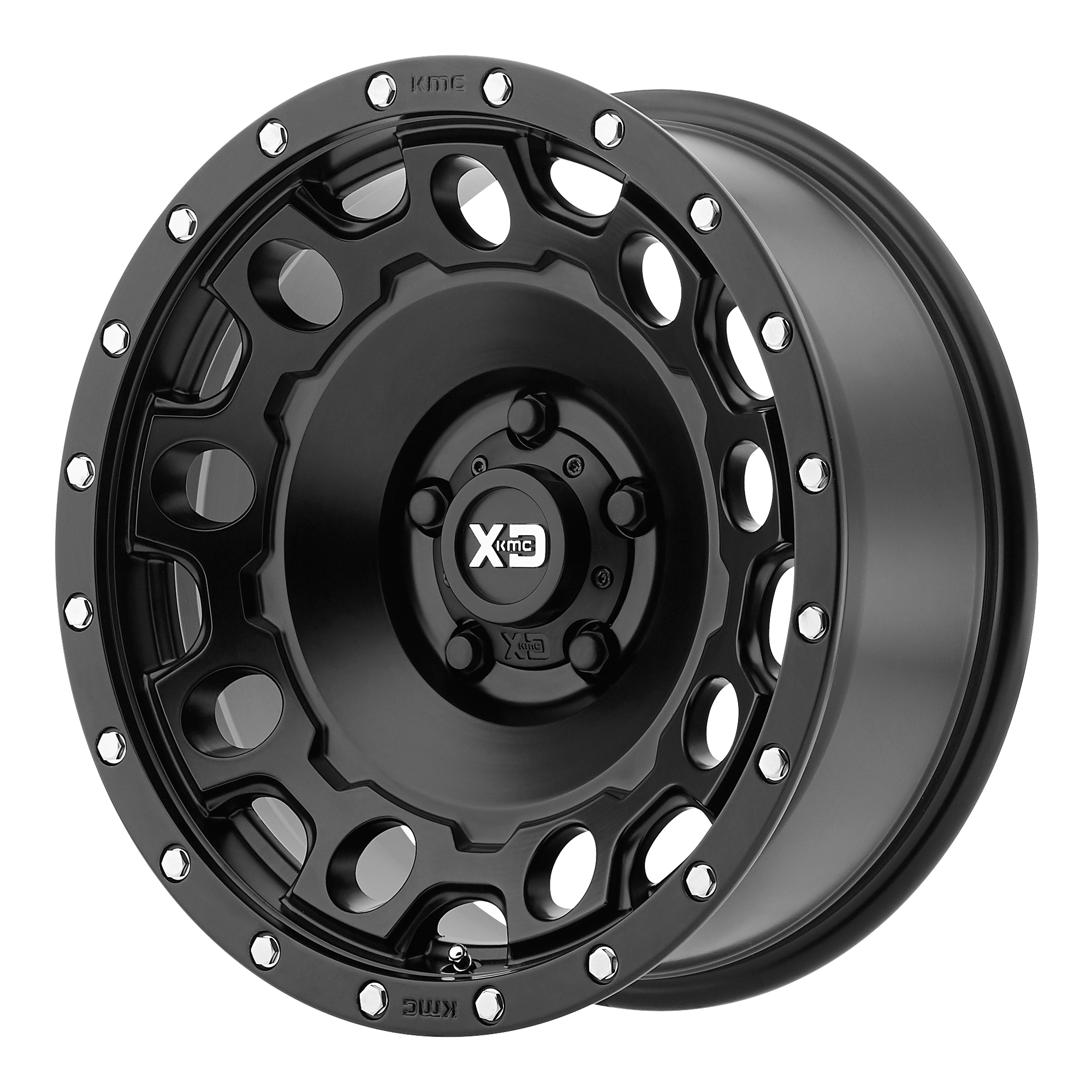 XD Series by KMC Wheels HOLESHOT Satin Black