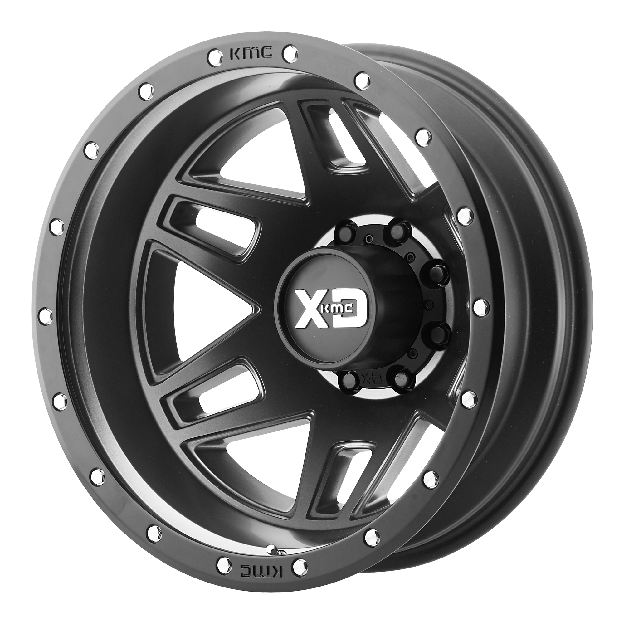 XD Series by KMC Wheels MACHETE DUALLY Satin Black
