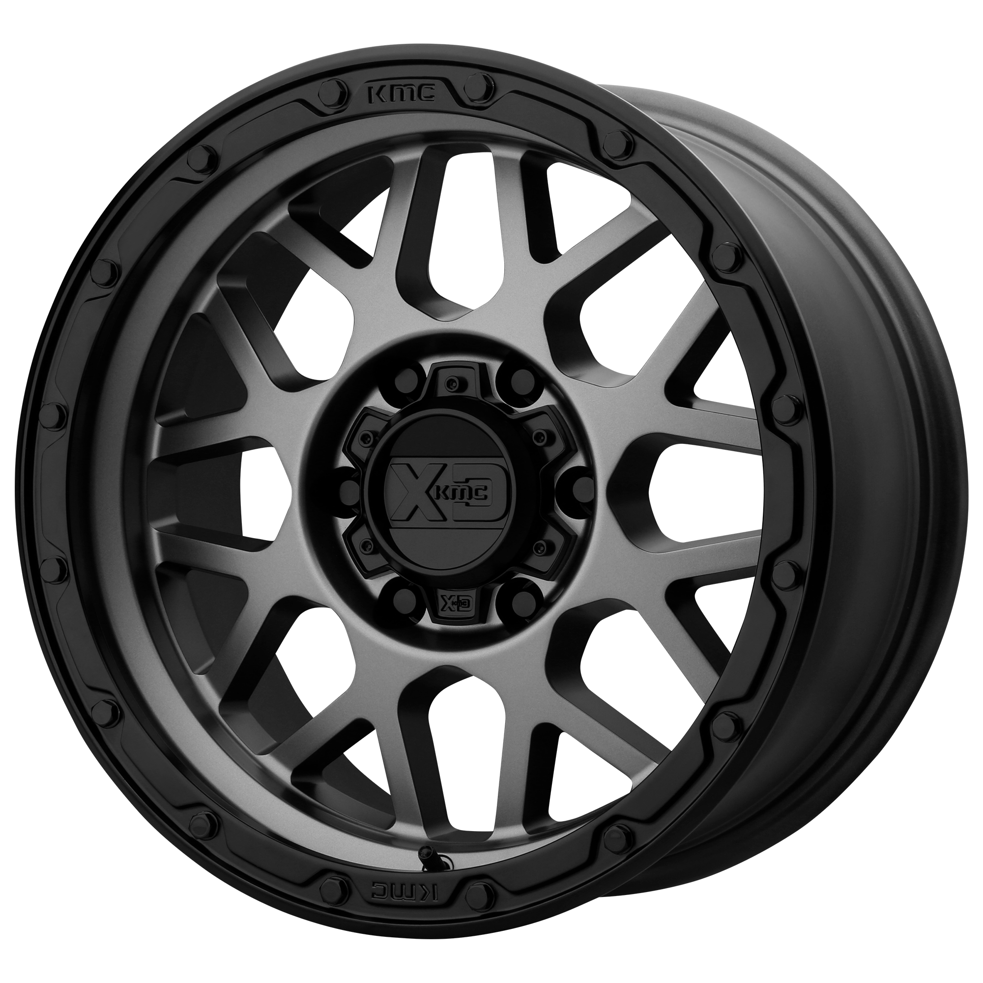XD Series by KMC Wheels GRENADE OR Matte Grey w/ Matte Black Lip