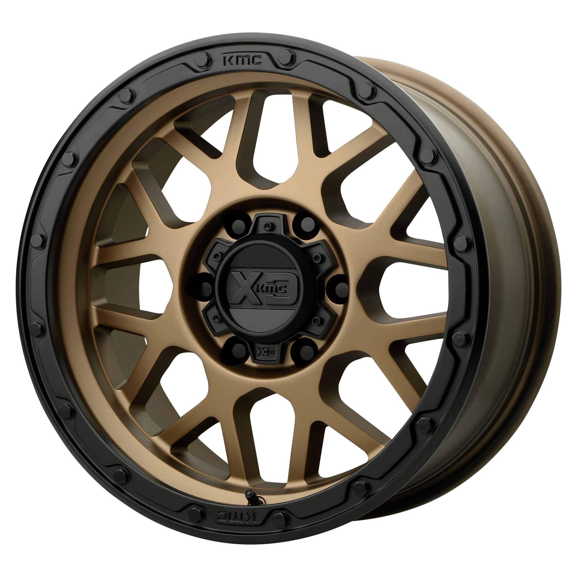 XD Series by KMC Wheels GRENADE OR Matte Bronze w/ Matte Black Lip