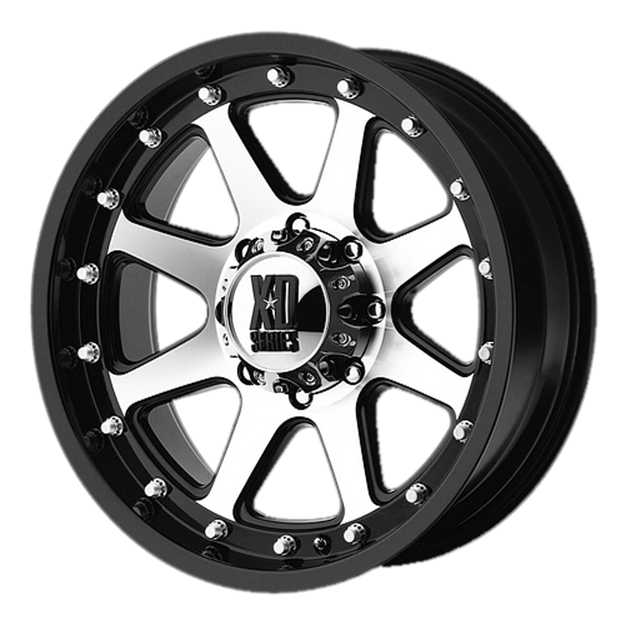XD Series by KMC Wheels ADDICT Matte Black Machined