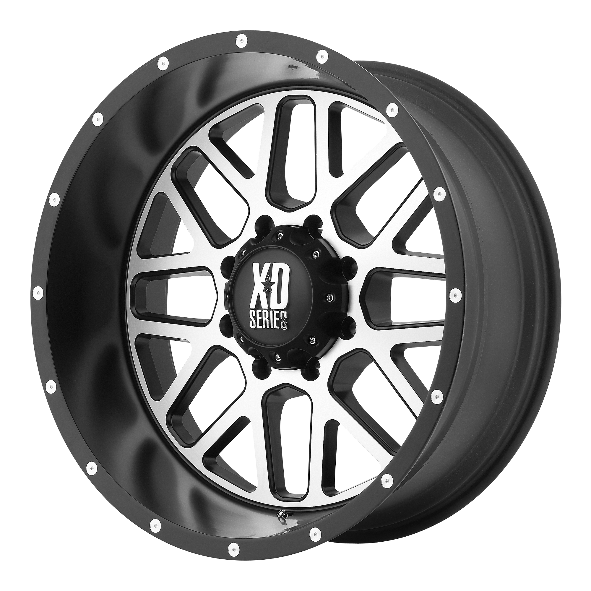 17x7.5 XD Series by KMC Wheels GRENADE Satin Black w/ Machined Face