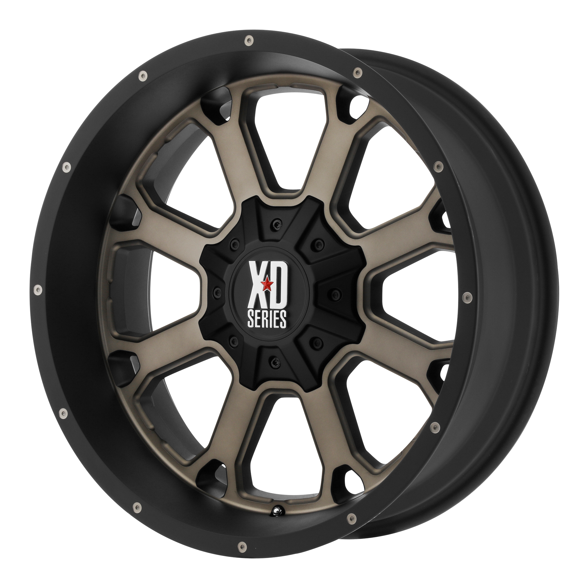 XD Series by KMC Wheels BUCK 25 Matte Black w/ Dark TINT