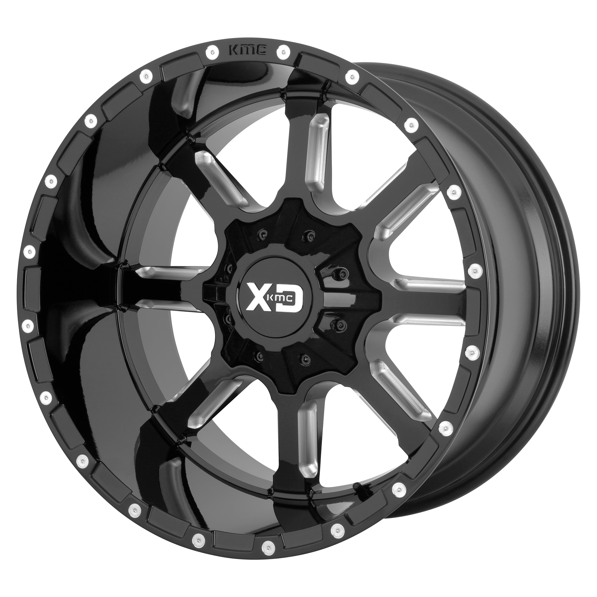 XD Series by KMC Wheels MAMMOTH Gloss Black Milled