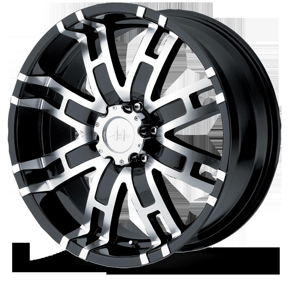 Helo Wheels HE835 Gloss Black Machined