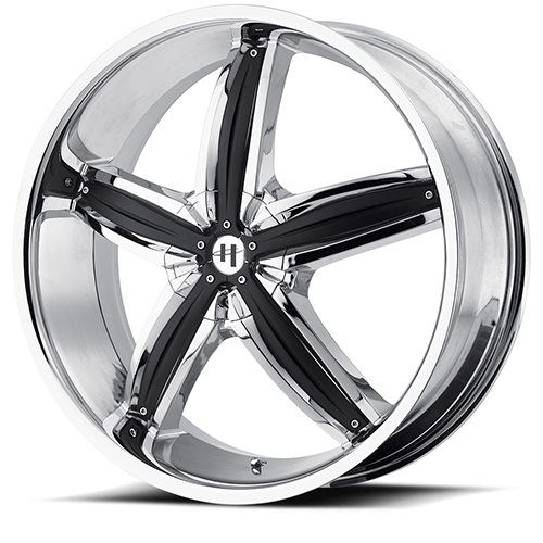 Helo Wheels HE844 Chrome Plated With Gloss Black Accents
