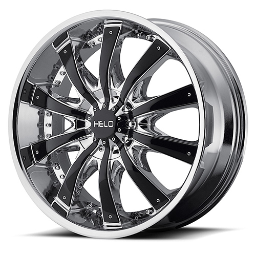 Helo Wheels HE875 Chrome Plated With Gloss Black Accents
