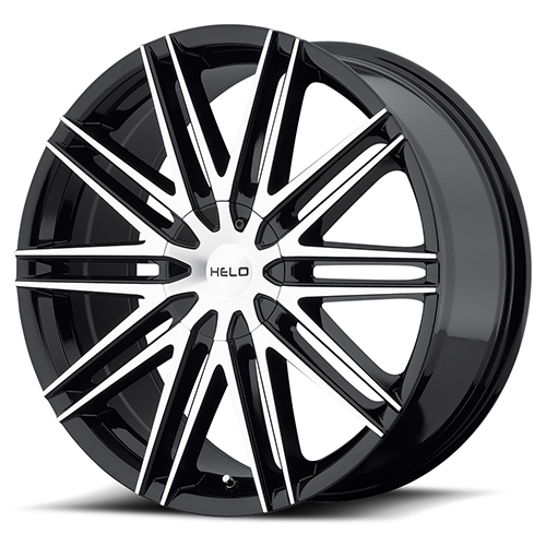 Helo Wheels HE880 Gloss Black With Machined Face
