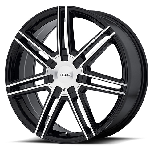 Helo Wheels HE884 Gloss Black With Machined Face