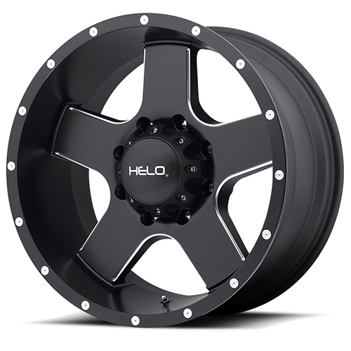 Helo Wheels HE886 Satin Black With Milled Spokes and Flange