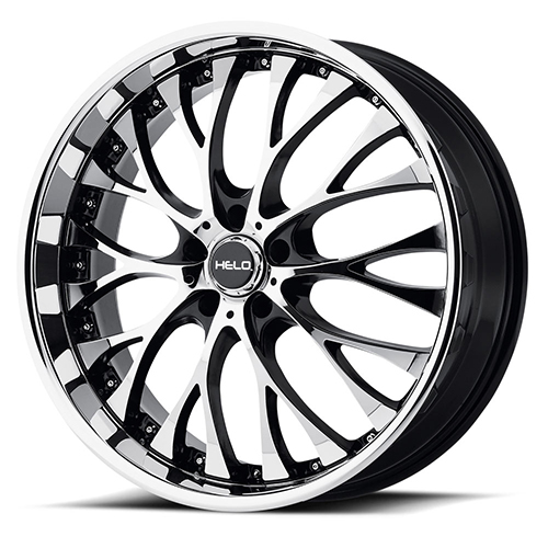 Helo Wheels HE890 Gloss Black With Machined Face