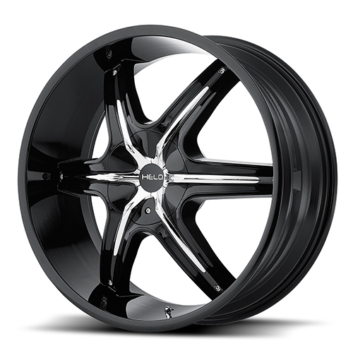 Helo Wheels HE891 Gloss Black With Chrome And Gloss Black Accents
