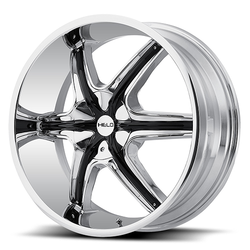 Helo Wheels HE891 Chrome Plated With Gloss Black and Chrome Accents