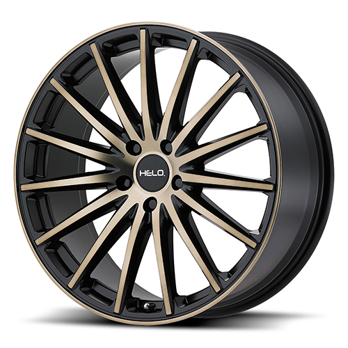 Helo Wheels HE894 Satin Black W/ Machined Face and Tinted Clear