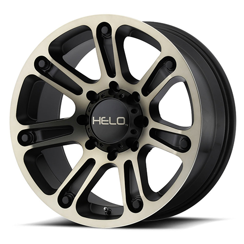 Helo Wheels He904 Satin Black Machined With Dark Tinted Clear