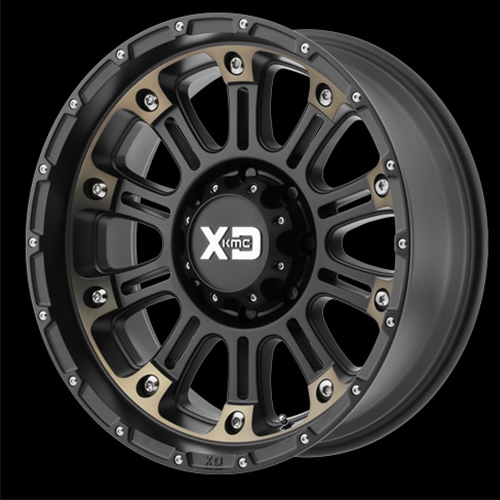 XD Series by KMC Wheels Hoss 2 Satin Black Mach With Dark Tint Clear Coat
