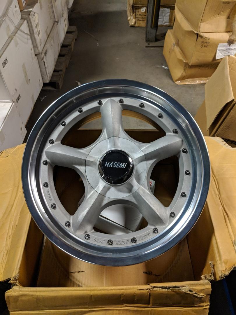 - WHEEL SPECIALS - Hasemi Speedstar Staggered Set 17x8.5/17x9 Wheels RAW