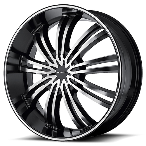 KMC Wheels KM682 Spider Gloss Black Machined