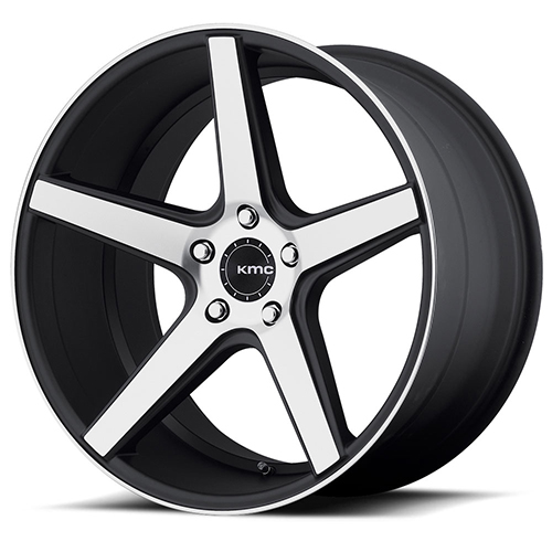KMC Wheels KM685 District Satin Blackwith Machined Face And Register