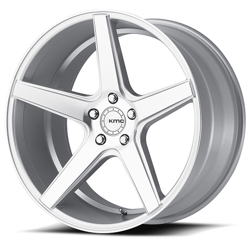 KMC Wheels KM685 District Bright Silver With Machined Face