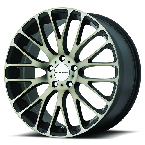 KMC Wheels KM693 Maze Satin Black W/ Machined Face and Tinted Clear