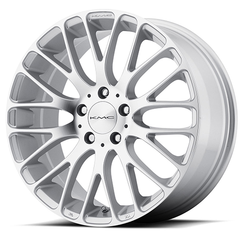 KMC Wheels KM693 Maze Silver W/ Machined Face