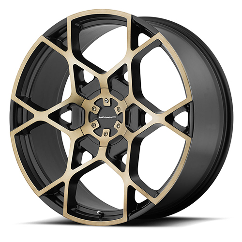 KMC Wheels KM695 Crosshair Satin Black W/ Machined Face and Tinted Clear