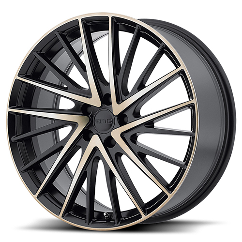 KMC Wheels KM697 Newton Satin Black W/ Machined Face and Tinted Clear