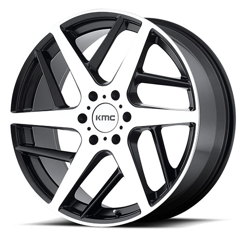 KMC Wheels KM699 Satin Black With Machined Face