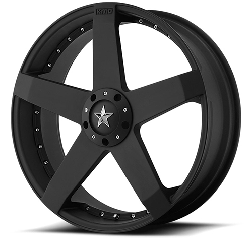 17x7.5 Rockstar by KMC Wheels KM775 Rockstar Car Matte Black