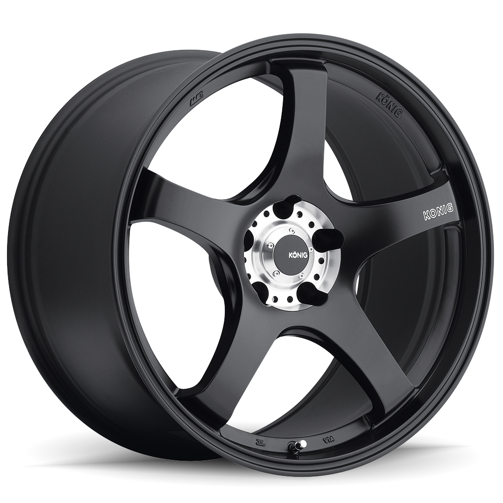Konig Wheels Centigram Matte Black W/ Machined Pcd