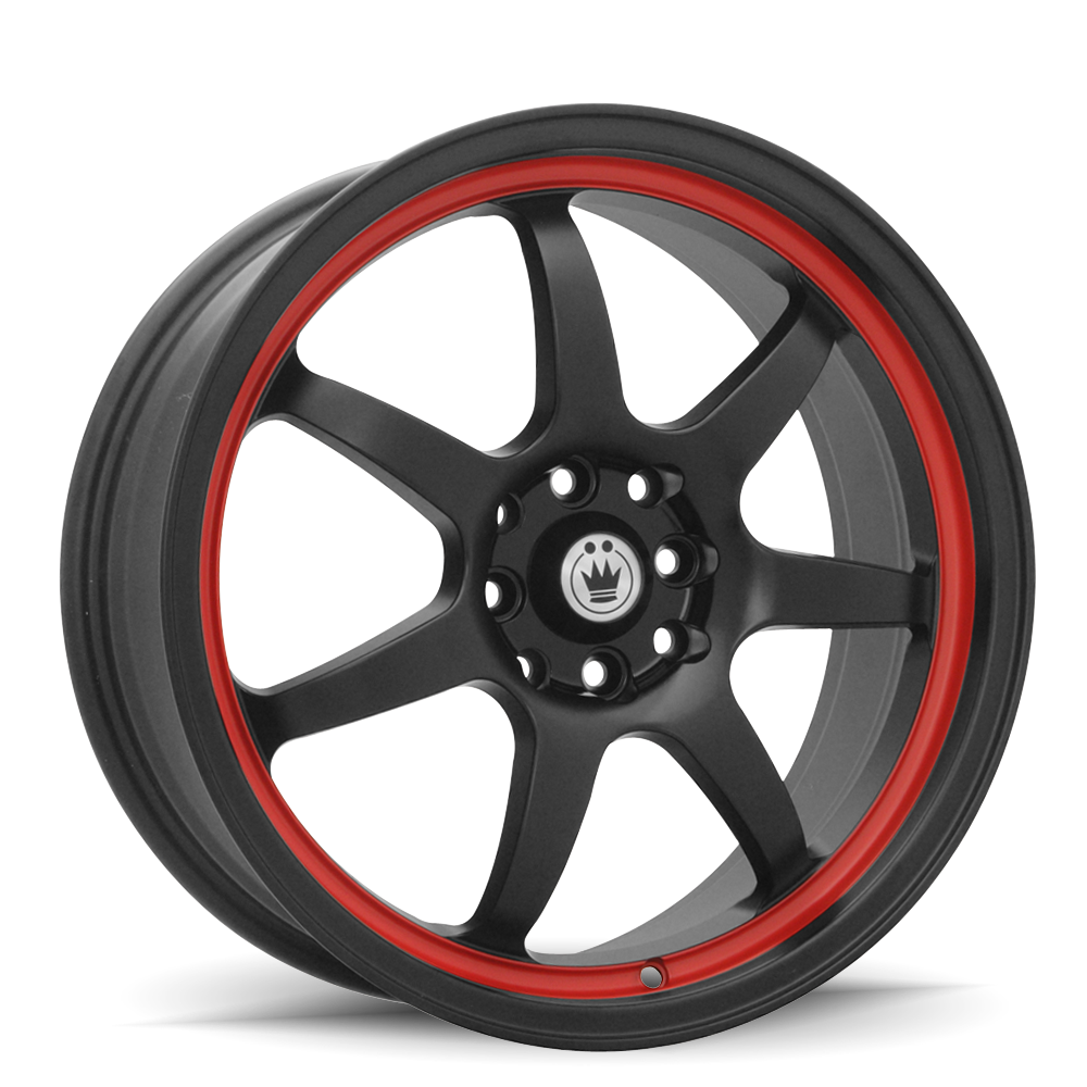 Konig Wheels Forward Matte Black Red Stripe