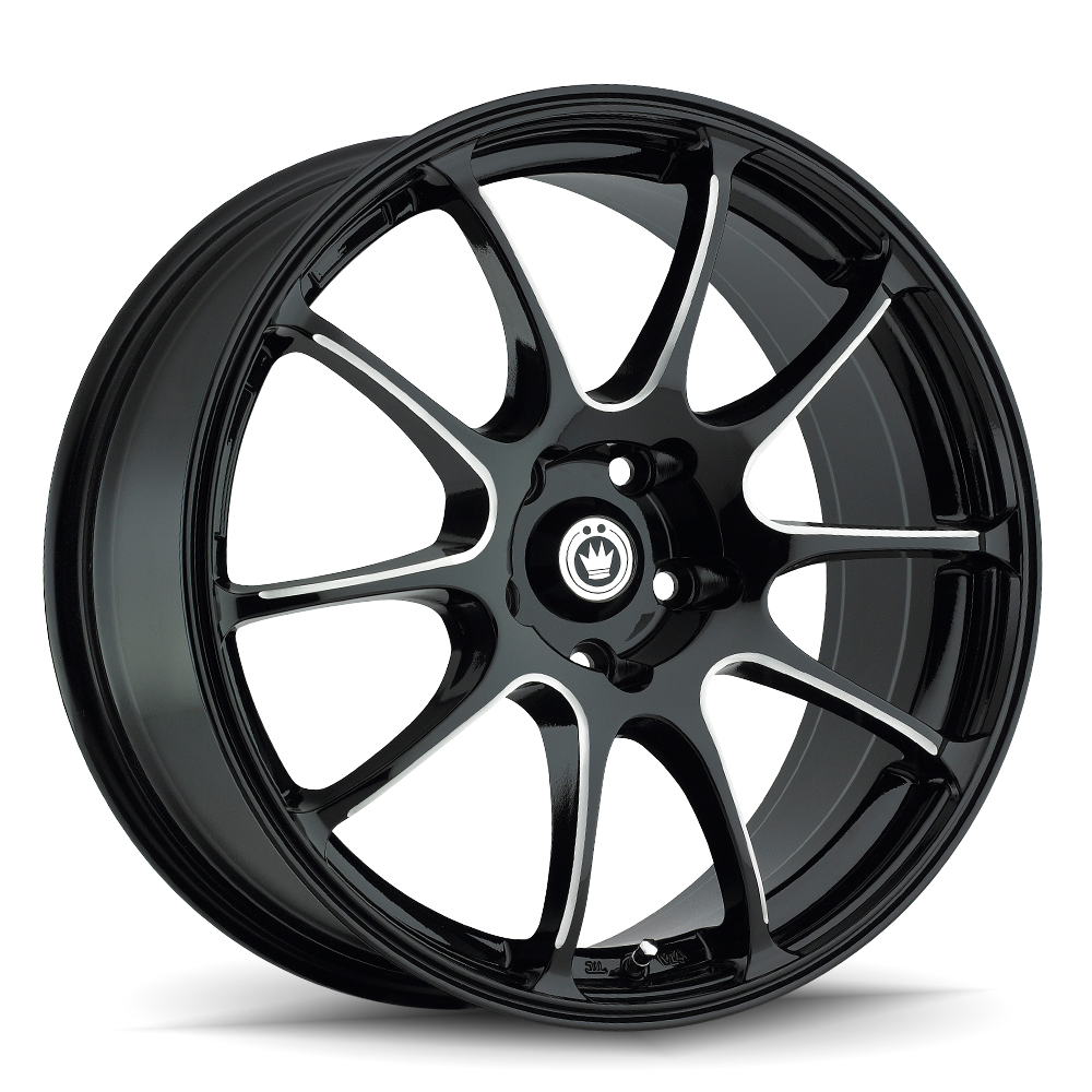 Konig Wheels Illusion Gloss Black Ball Milled Spoke