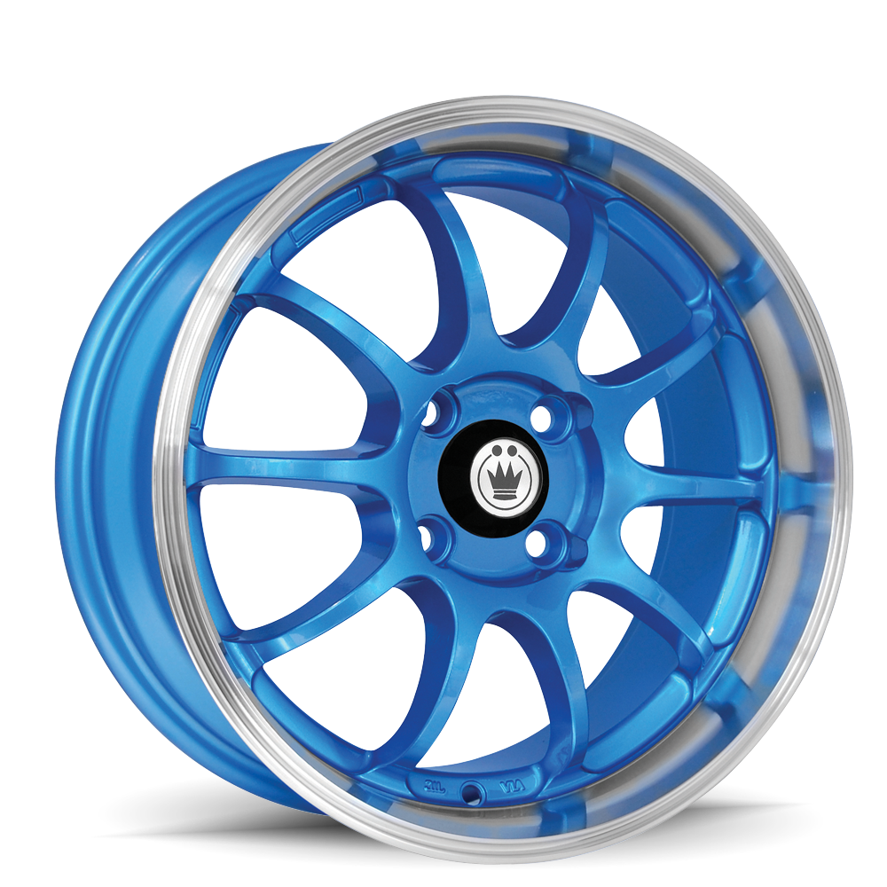 Konig Wheels Lightning Blue With Machined Lip