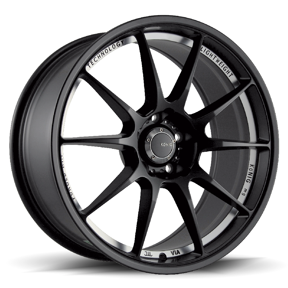 Konig Wheels Milligram Matte Black Machined
