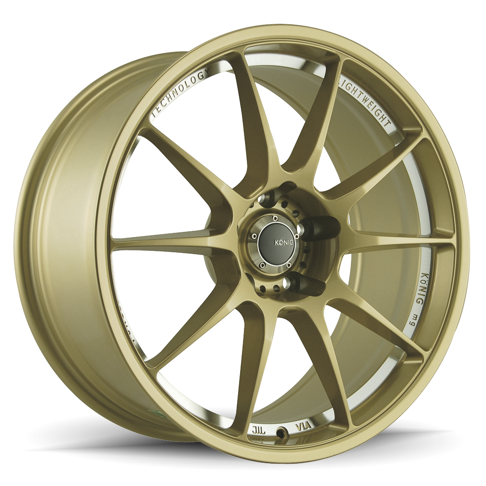 Konig Wheels Milligram Gold With Machined Undercut