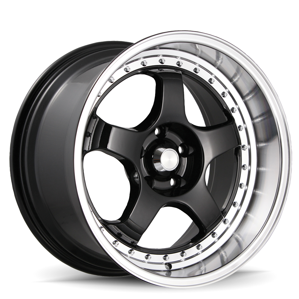 Konig Wheels SSM Gloss Black With Machined Lip