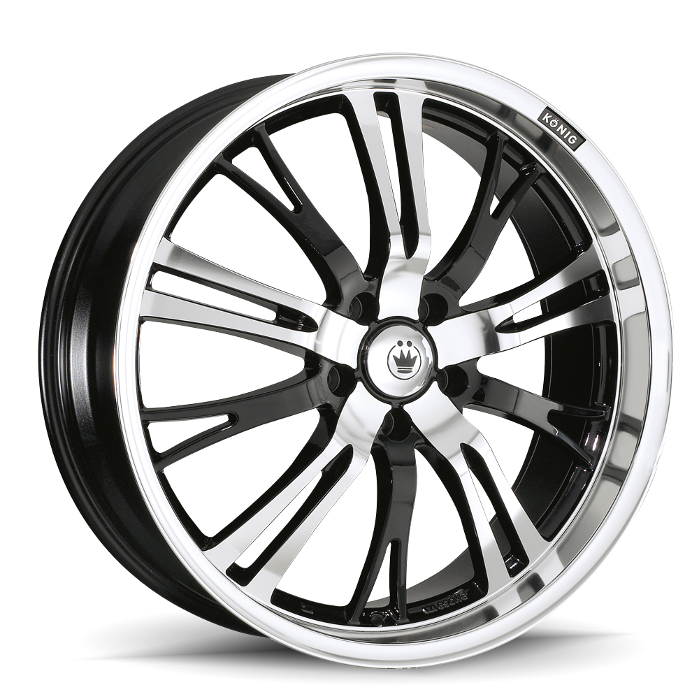 Konig Wheels Unknown Machined Face Black Background