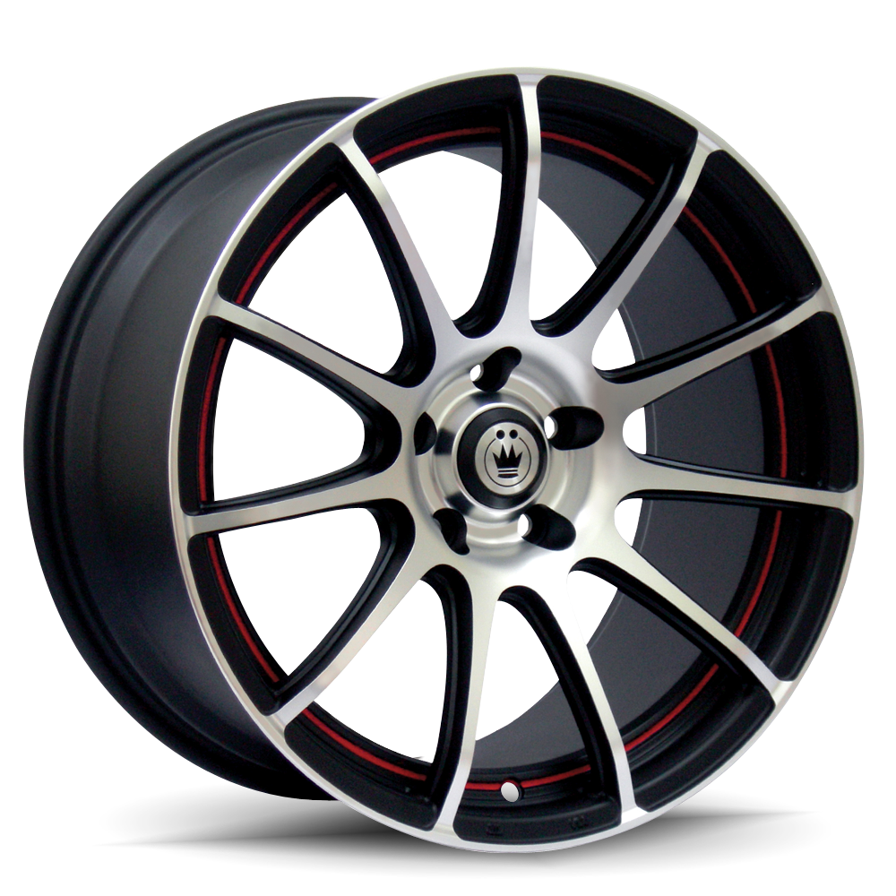 Konig Wheels Zero-In Machined Face Black Windows Red